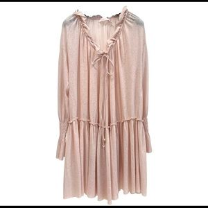 See by chloe silver-pink dress size M